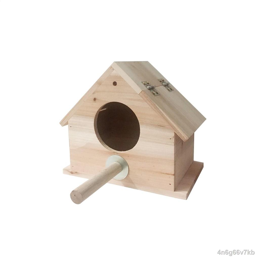 อุปกรณ์สำหรับสัตว์เลี้ยง┅♣❖กล่องเพาะพันธุ์กรงกลม กล่องเพาะพันธุ์นกแก้ว รังนก กล่องไม้ รังนก กล่องเพาะพันธุ์นกแก้ว ดอกโบต