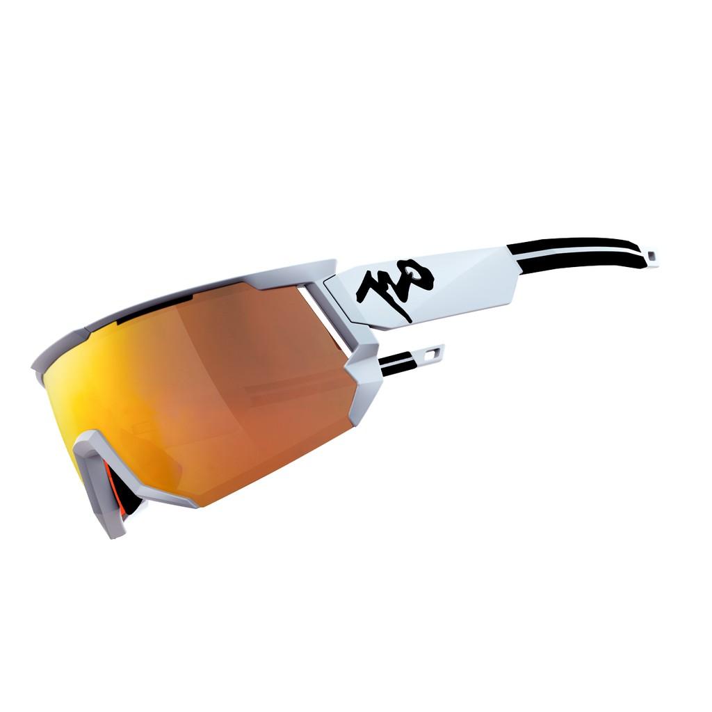แว่นตากันแดด 720armour รุ่น Mars สีกรอบ Matte White สีเลนส์ Champion Gold Ti