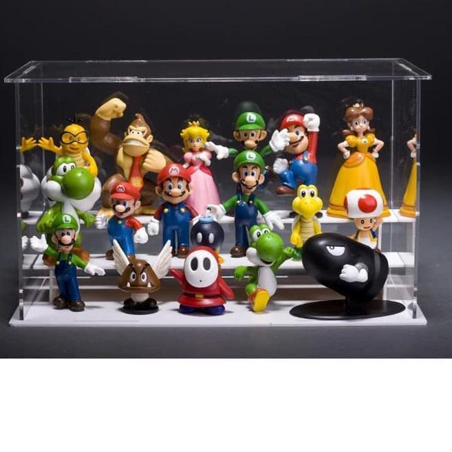 ชุดของเล่น 'figure Mario Bros 18 ชิ้น / ชุดสําหรับเด็ก