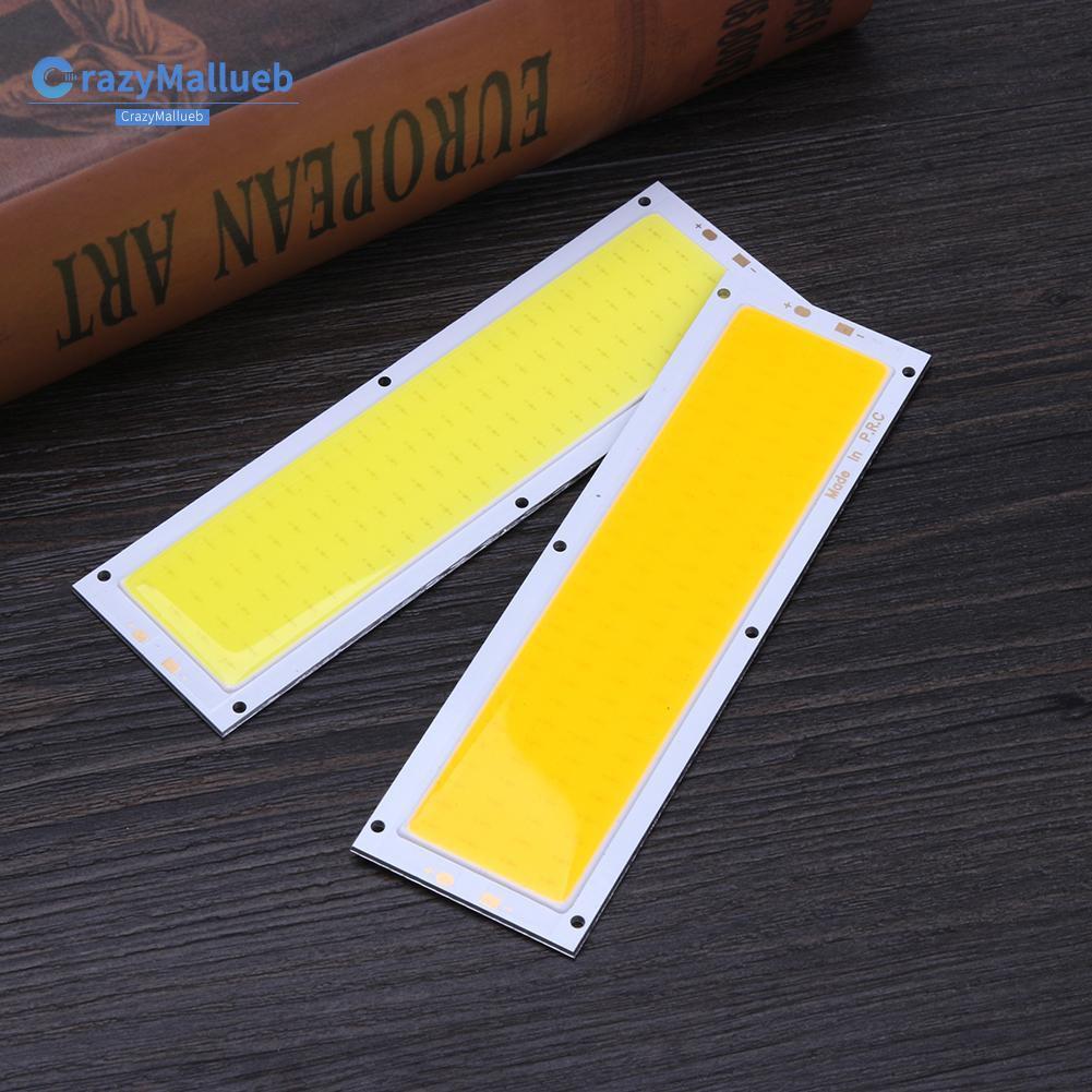 Crazymallueb12v 10w Cob แผงหลอดไฟ Led 120x36มม.สีขาว/ขาว