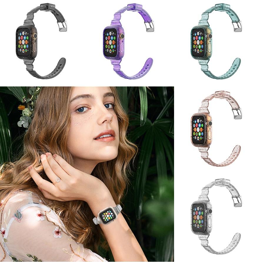 แฟชั่นพลาสติกแข็ง apple watch Straps iwatch Series SE 6 5 4 3 2 1  สาย applewatch 38 40 42 44mm