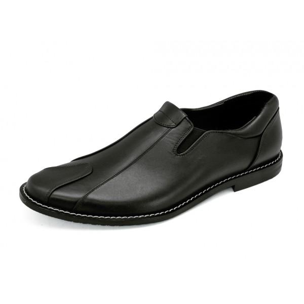 TAYWIN(แท้) รองเท้าคัชชูหนังแท้ ผู้ชาย รุ่น MN-01 หนังนิ่มสีดำ