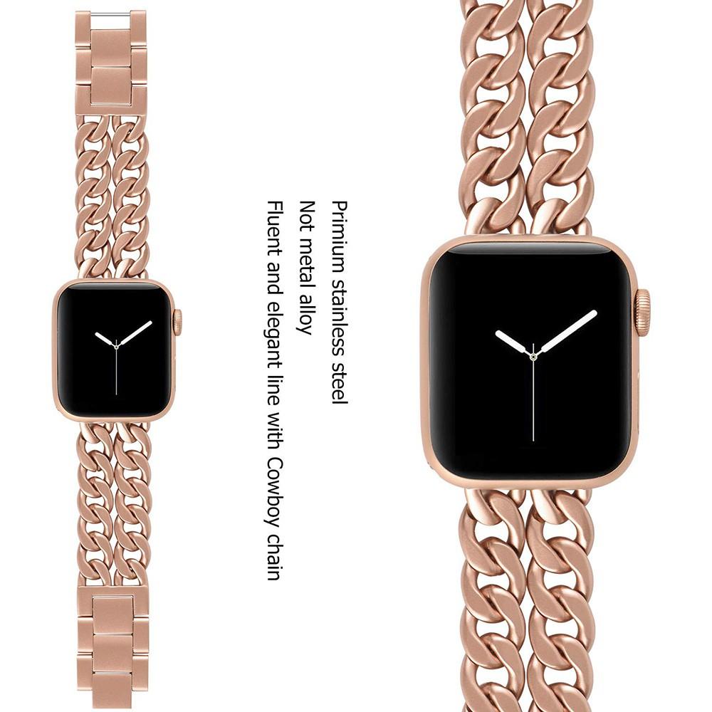 Luxury Chain สายนาฬิกา Apple Watch Straps เหล็กกล้าไร้สนิม สาย Applewatch Series 6 5 4 3 2 1 Stainless Steel สายนาฬิกาข้
