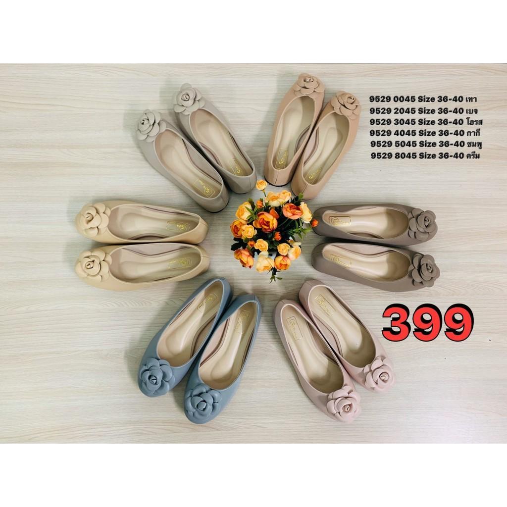 SEA Shoes รองเท้าคัชชูแต่งดอกไม้ 9529-045