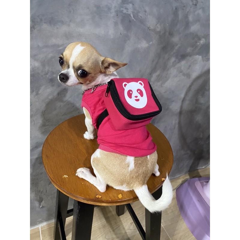 เสื้อน้องหมา เสื้อสุนัข ชุดหมาแมว ฟู้ดแพนด้า foodpanda (แยกขาย เสื้อ&กระเป๋า)