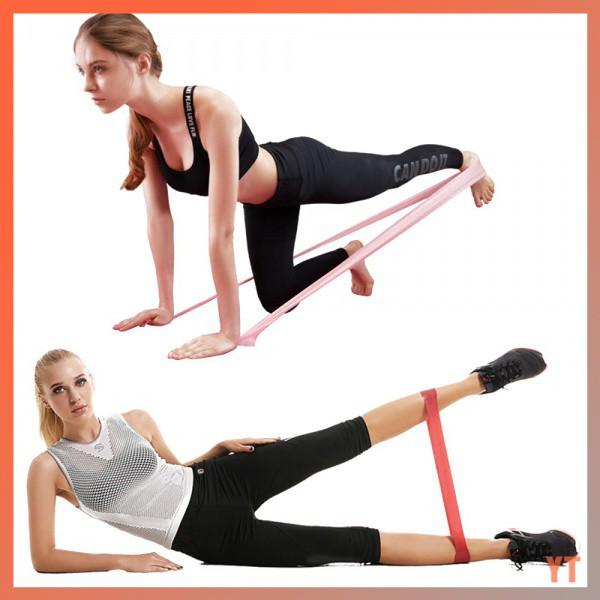 ✔️เตรียมการจัดส่ง✔️ยางยืดออกกำลังกาย  ยางยืดออกกำลังกาย ยางยืดวงแหวน บริหารร่างกาย 4 เส้น แรงต้านขนาดต่างๆ oWfk