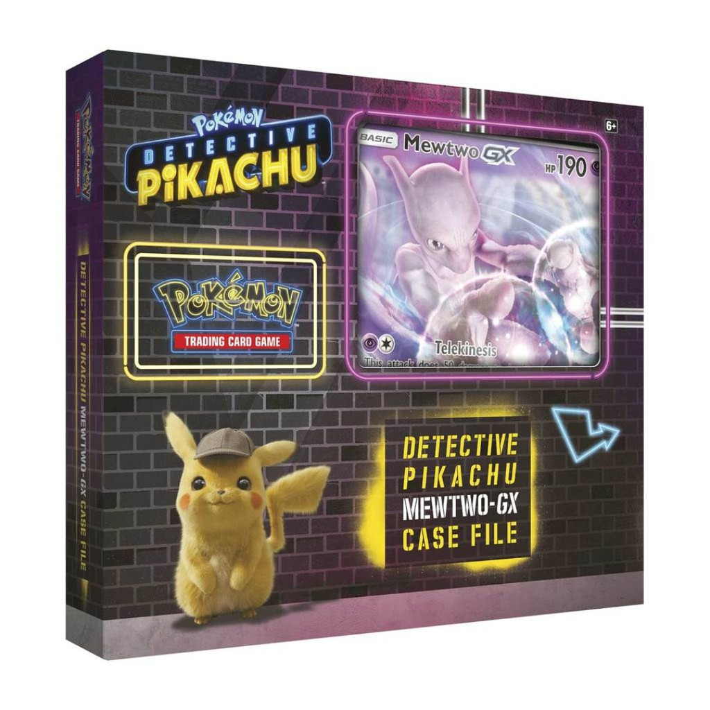 Pokemon Detective Pikachu Mewtwo-GX Case File Trading Card Game Factory Sealed