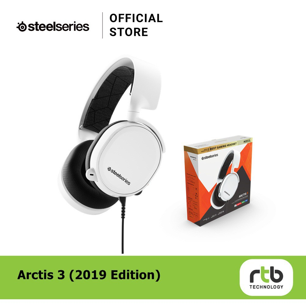 SteelSeries หูฟัง รุ่น ARCTIS 3 Gaming Headset (White)