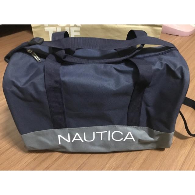 """กระเป๋าเดินทาง Nautica ของแท้ สีน้ำเงิน/เทา ใบเล็ก 12""""x14"""" ฐานกว้าง 11"""""""