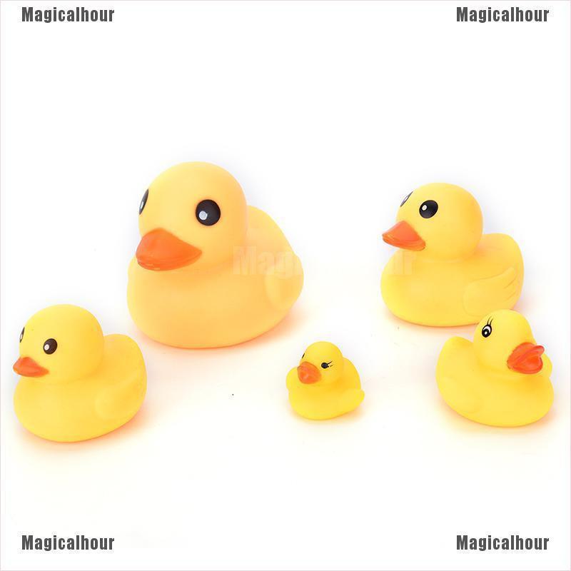 Colorful Mini Bathtime Rubber Duck Bath Squeaky Water Play Fun K WW