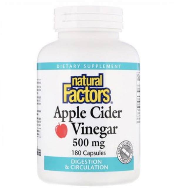 Natural Factor Apple Cider Vinegar500 mg  180 เม็ด