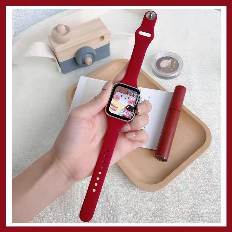 มือถือและอุปกรณ์เสริม *READY STOCK* พร้อมส่ง‼️สาย สำหรับ Apple Watch สีมาใหม่ series 6 5 4 3 2 1 สำหรับapplewatch ขนาด