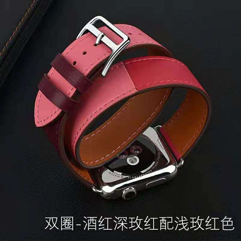 💥 สาย applewatch 🔥 apple สายนาฬิกา สาย apple watch 1/2/3 / 4 รุ่น สายหนัง สาย apple watch Hermes