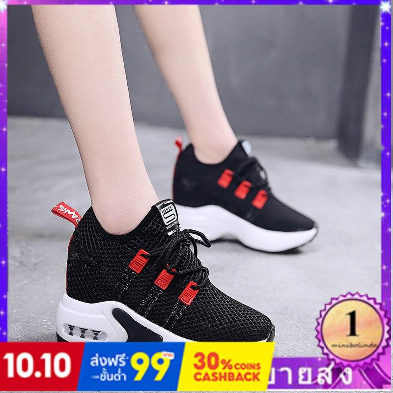 ⭐👠รองเท้าส้นสูง หัวแหลม ส้นเข็ม ใส่สบาย New Fshion รองเท้าคัชชูหัวแหลม  รองเท้าแฟชั่นรองเท้าผู้หญิงที่เพิ่มขึ้นด้านล่างห