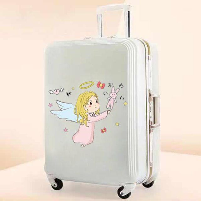 ขายกระเป๋าเดินทางหญิง20-นิ้ว16-นิ้ว18นักเรียนมินินิ้วน่ารักสุทธิสีแดง14นิ้วบุคลิกภาพกระเป๋าเดินทางinsสติกเกอร์กันน้ำ