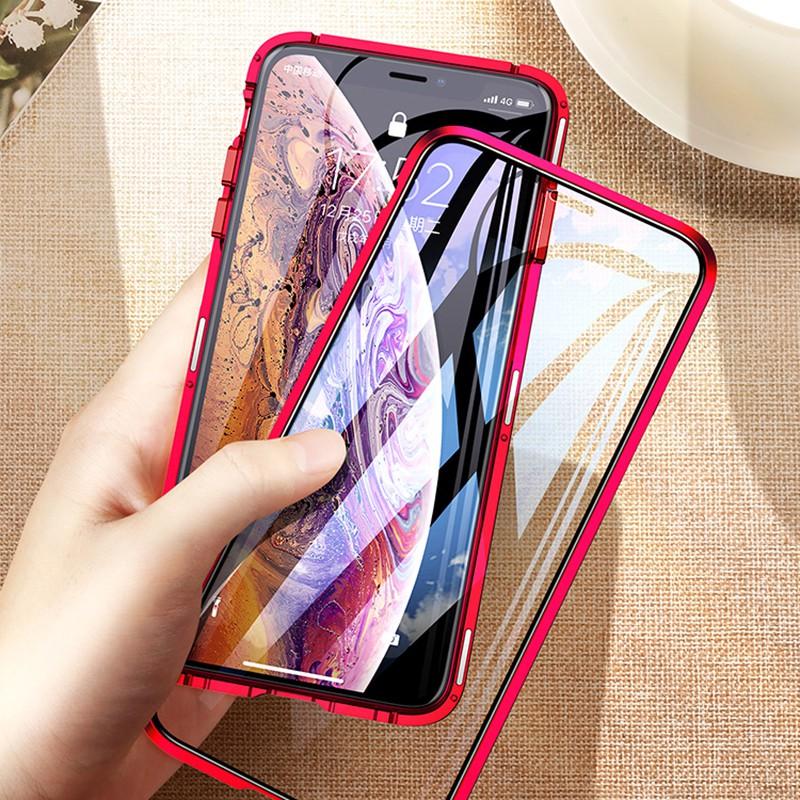 เคสโทรศัพท์มือถือแบบสองด้านสําหรับ iphone 11/pro/pro max