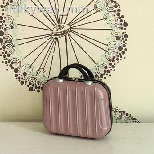 ¤☃กล่องใส่เครื่องสำอางแบบพกพาขนาดเล็กรุ่นเกาหลี 14 นิ้วกระเป๋าเดินทางใบเล็ก 16 ใบกระเป๋าเดินทางแบบกันน้ำและแบบพกพากระเ