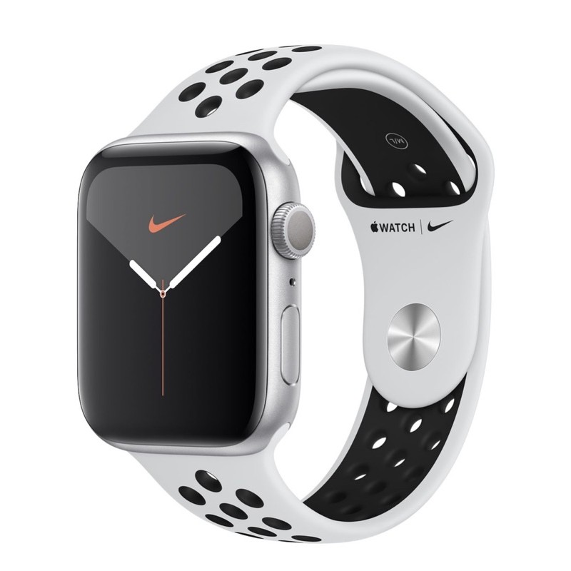 🍏Apple Watch Nike Series 5 GPS ขนาด 44 มม. Silver Aluminium Case with Pure Platinum/Black Nike Sport Band