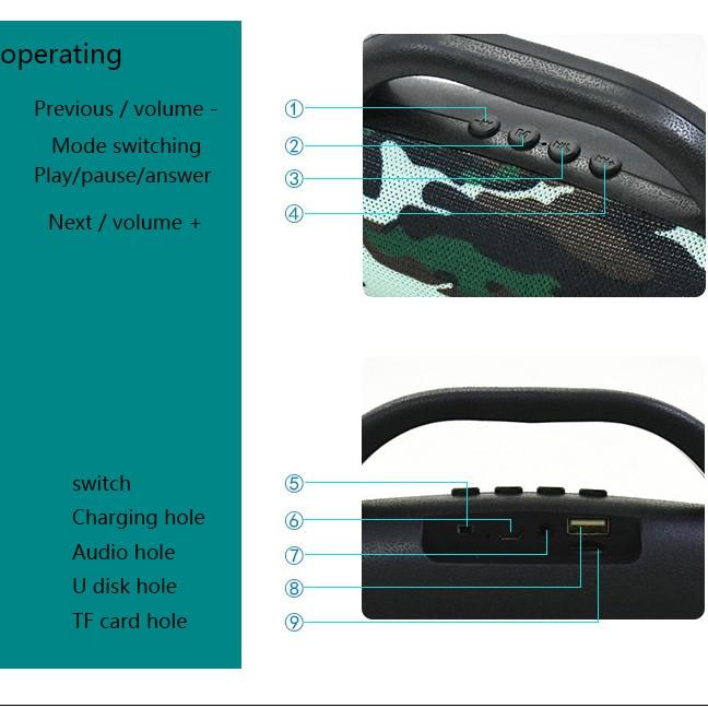 ลำโพงบลูทูธ USB Micro SD Card Speaker JBL