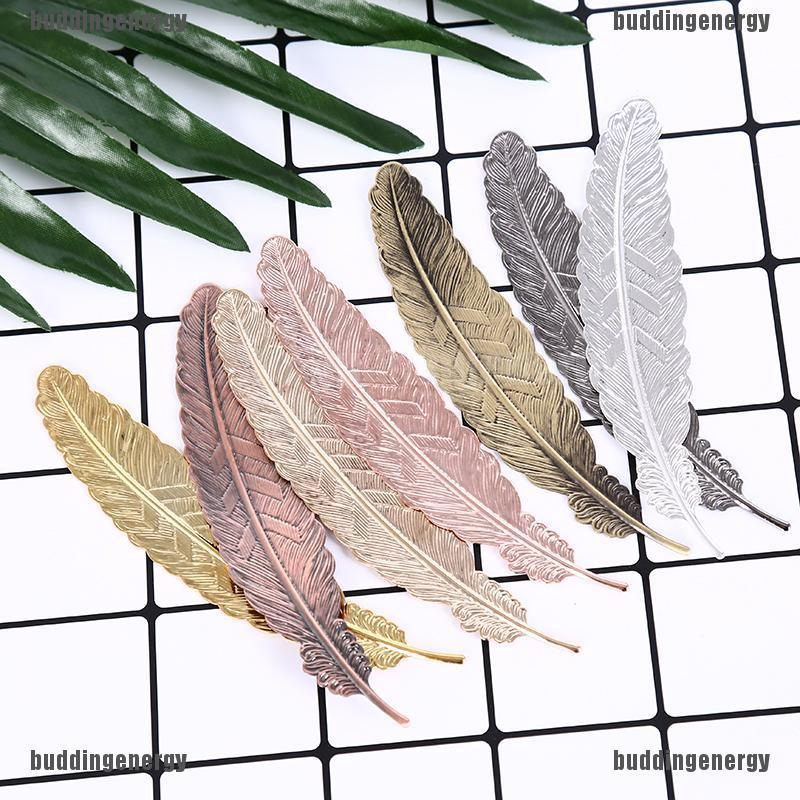 [Outdoor&Home]antique leaves feather shaped metal bookmark for books office school gift