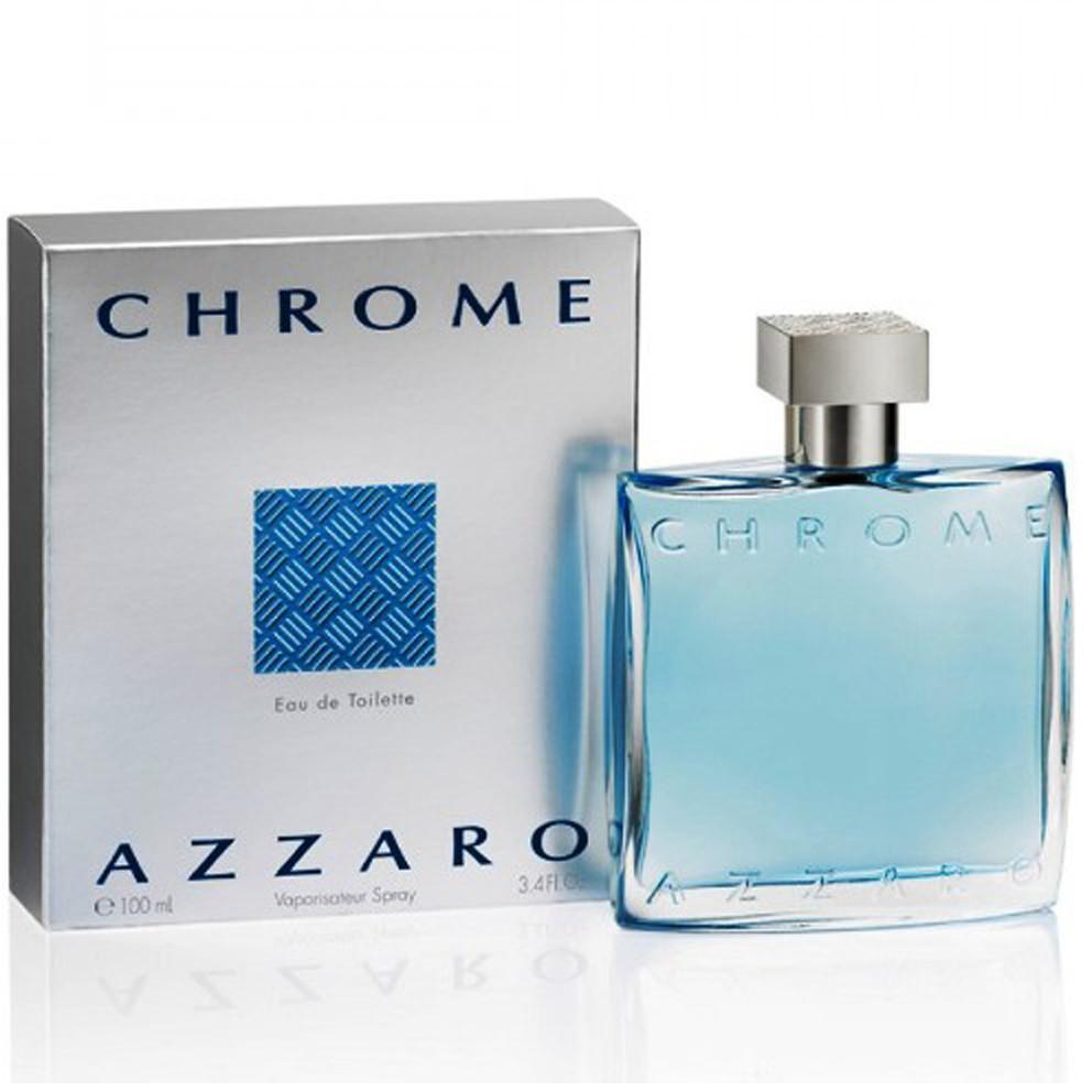 ส่งฟรี Azzaro Chrome EDT 100ml กล่องซีล น้ำหอม