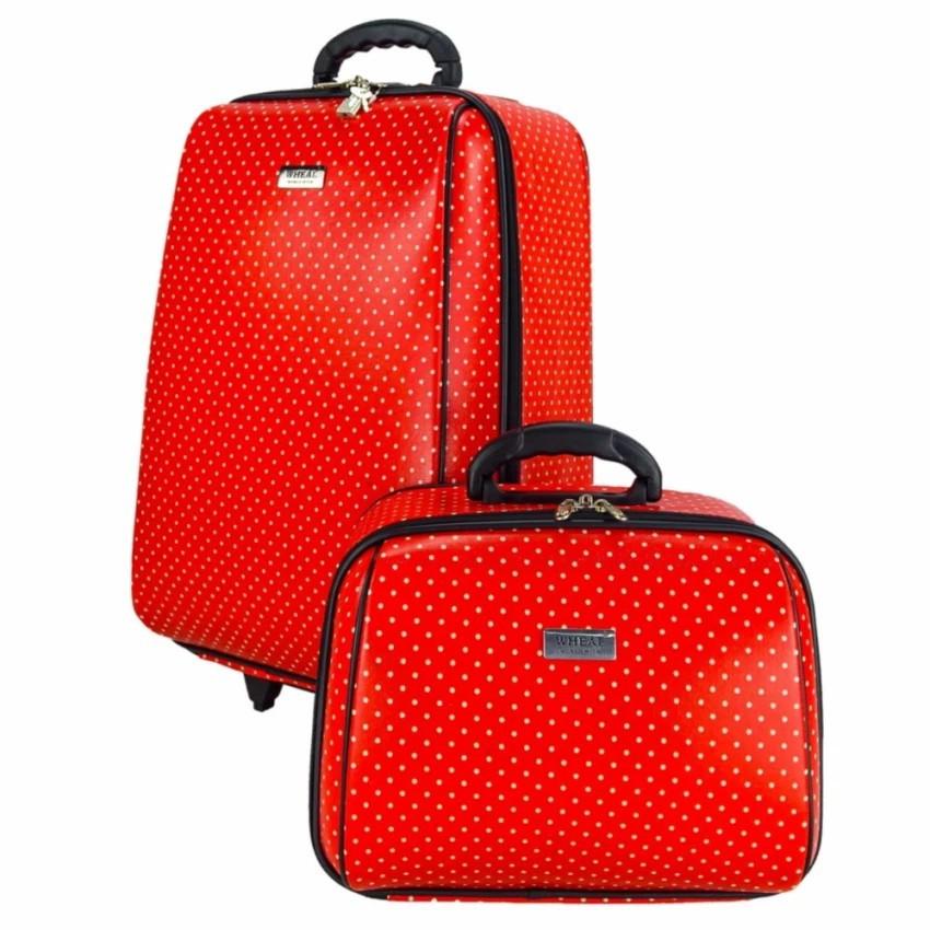 กระเป๋าเดินทาง กระเป๋าเดินทางล้อลาก Wheal เซ็ทคู่ 20/14 นิ้ว Code 60020-5 Mini-Dot (Red) กระเป๋าล้อลาก กระเป๋าเดินทาง