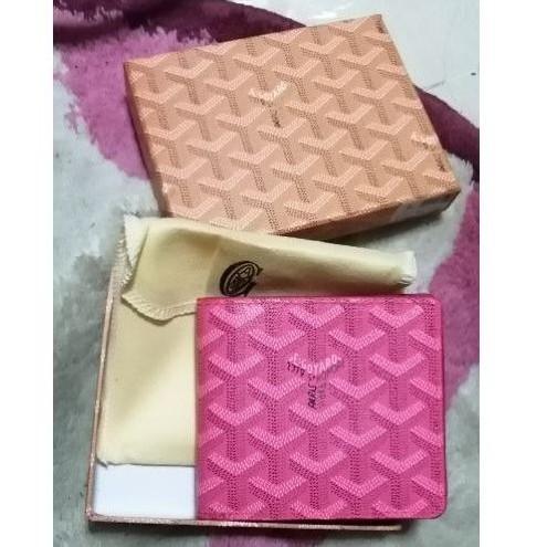 กระเป๋าสตางค์ Goyard สีชมพู