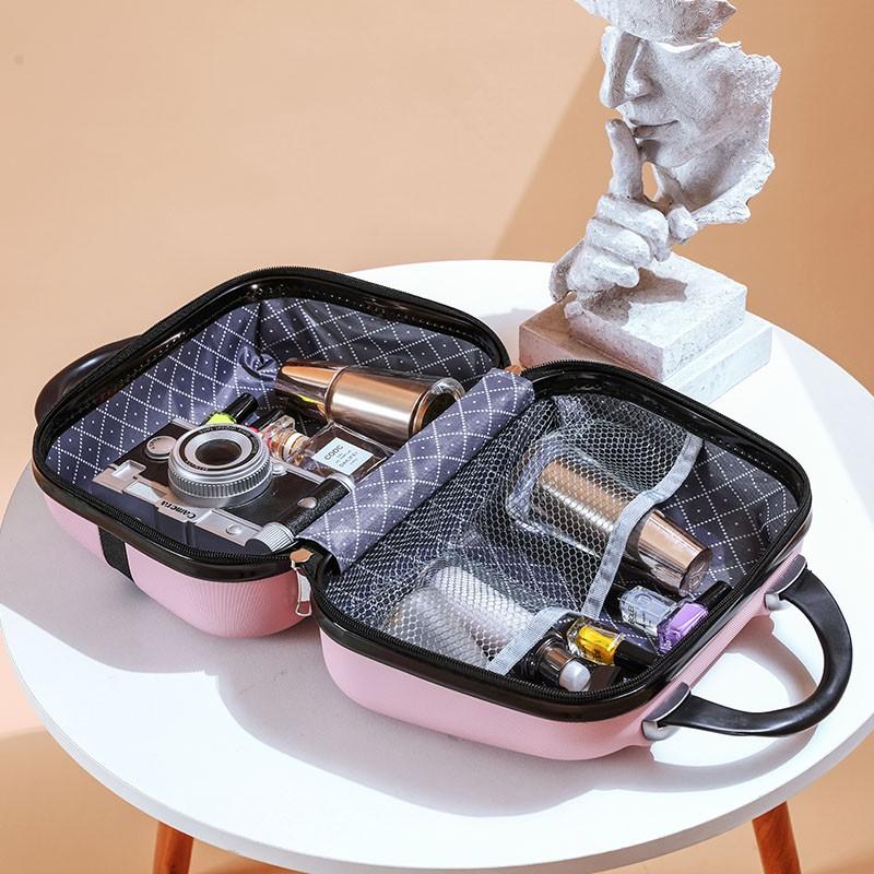 นิ้ว กระเป๋าลาก กระเป๋าเดินทางล้อคู่ แข็งแรง ยืดหยุ่นสูง น้ำหนักเบา ตัวกระเป๋ากันน้ำกระเป๋าเดินทางขนาดเล็ก14นิ้วมินิกล่อ