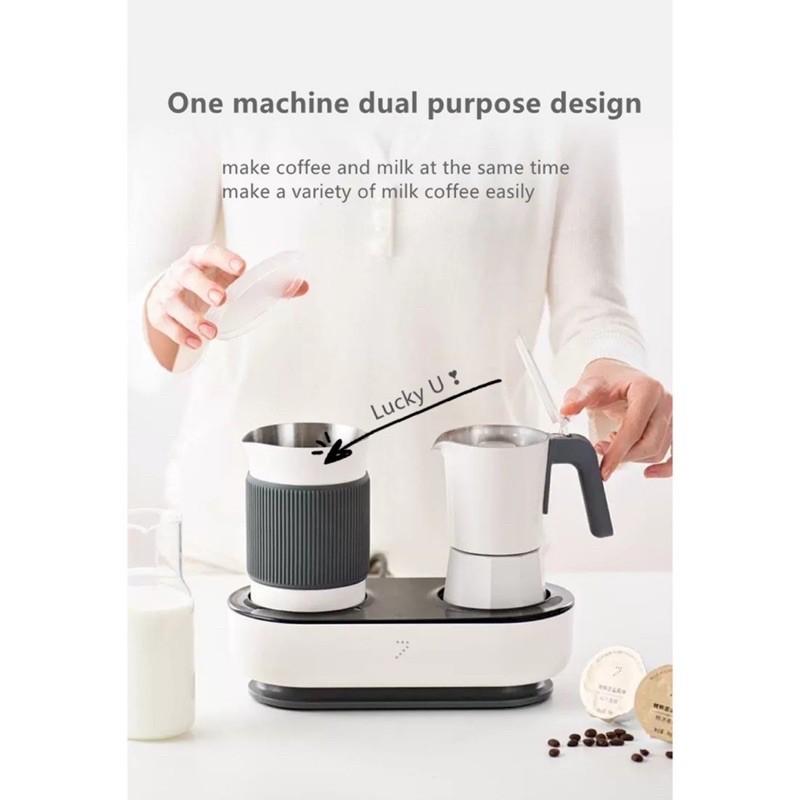 เครื่องชงกาแฟเอสเปรสโซในครัวเรือนเครื่องทำฟองนมกึ่งอัตโนมัติ Moka pot เครื่องชงกาแฟแคปซูล