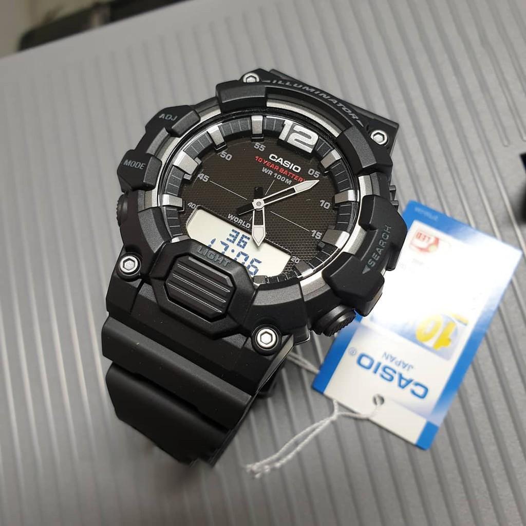 ค่าต่ำสุดสูง Casiocasio ย้อนยุคนาฬิกาชาย ตัวชี้อิเล็กทรอนิกส์ตารางการแสดงผลแบบdual HDC-700-1AV