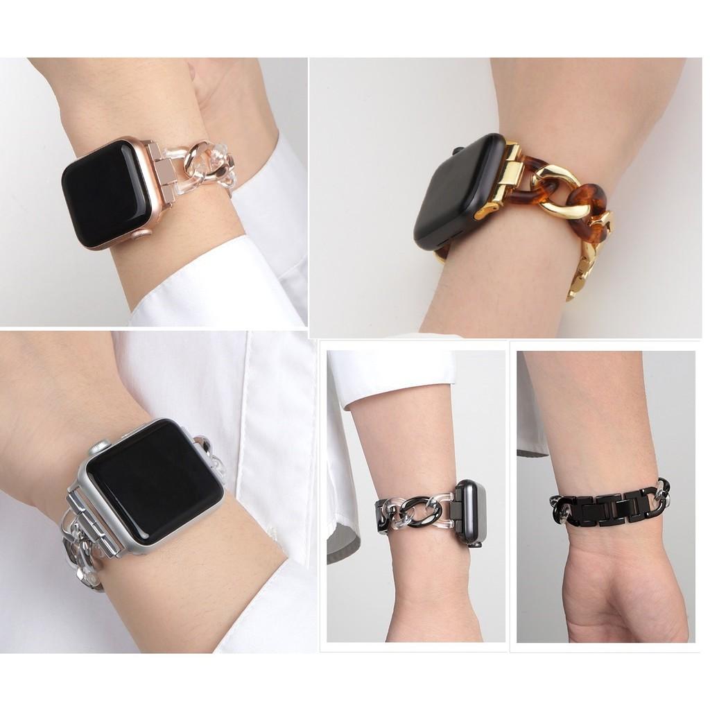 สายนาฬิกาข้อมือ แบบโซ่ เหล็กกล้าไร้สนิม สำหรับ Applewatch Series 6 5 4 3 2 1, Apple Watch SE Stainless Steel สายนาฬิกาข้