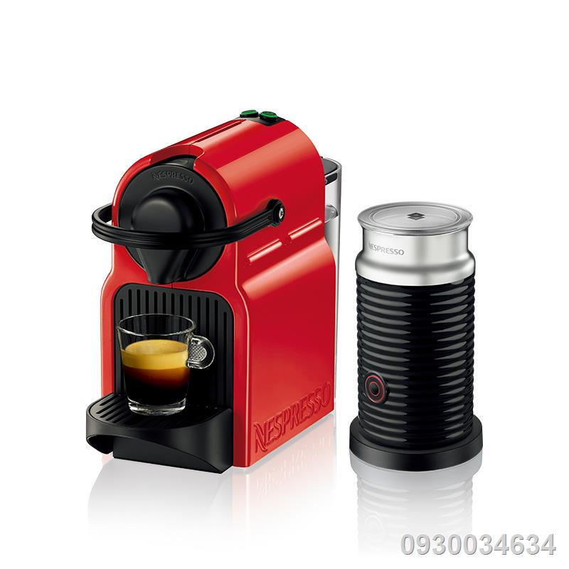 ✵NESPRESSO Inissia ร่วมกับเครื่องทำฟองนมอัตโนมัตินำเข้าเครื่องชงกาแฟแคปซูลโฮมออฟฟิศ