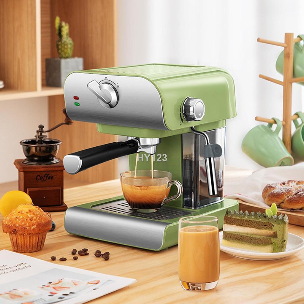 ราคาขายส่ง✈เครื่องชงกาแฟ เครื่องชงกาแฟเอสเพรสโซ เครื่องทำกาแฟขนาดเล็ก เครื่องทำกาแฟกึ่งอัตโนมติ Coffee maker เครื่องชงก