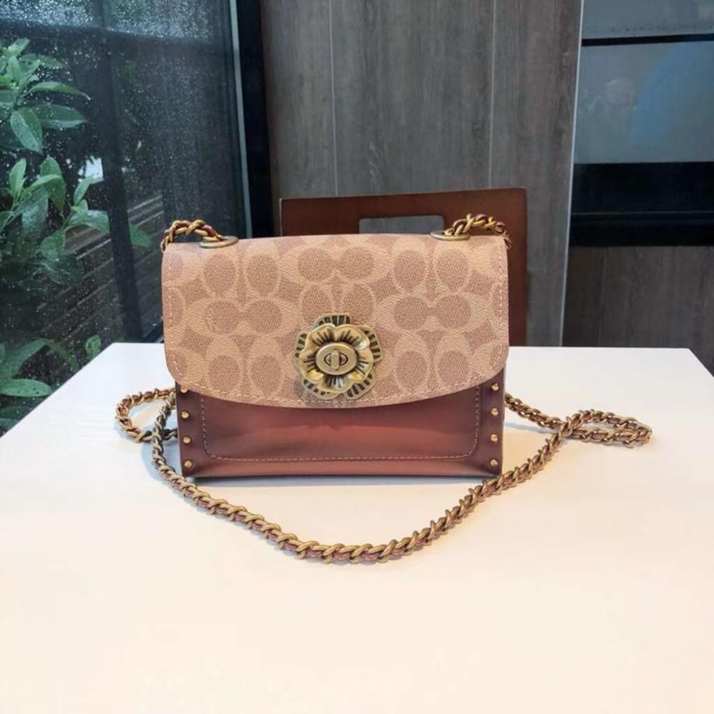 กระเป๋าผู้หญิง Coach แท้ F30592 กระเป๋าสะพายข้างสายโซ่ / crossbody bag /กระเป๋าสะพายขนาดเล็ก
