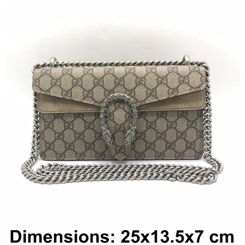 [กระเป๋าสะพาย]Gucci Dionysus Small ขนาดใหม่ สายยาวขึ้น Crossbodyได้ ของแท้ ส่งฟรีEMS ทั้งร้าน