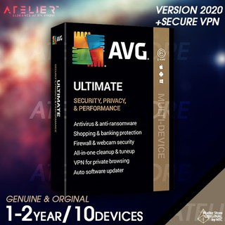 AVG ULTIMATE 2021 1-2ปี /10 เครื่อง (พร้อม Secure VPN และ TuneUp)