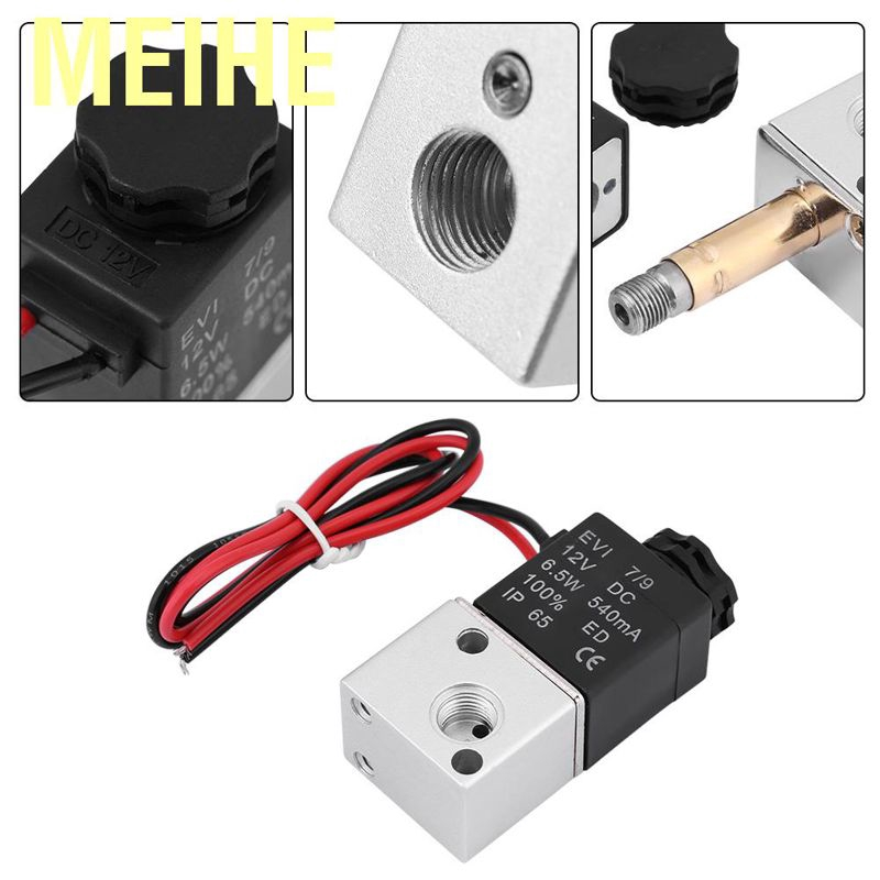 """1//2/"""" Inch Pneumatic 3 Way Electric Directional Control Air Solenoid Valve 24V DC"""