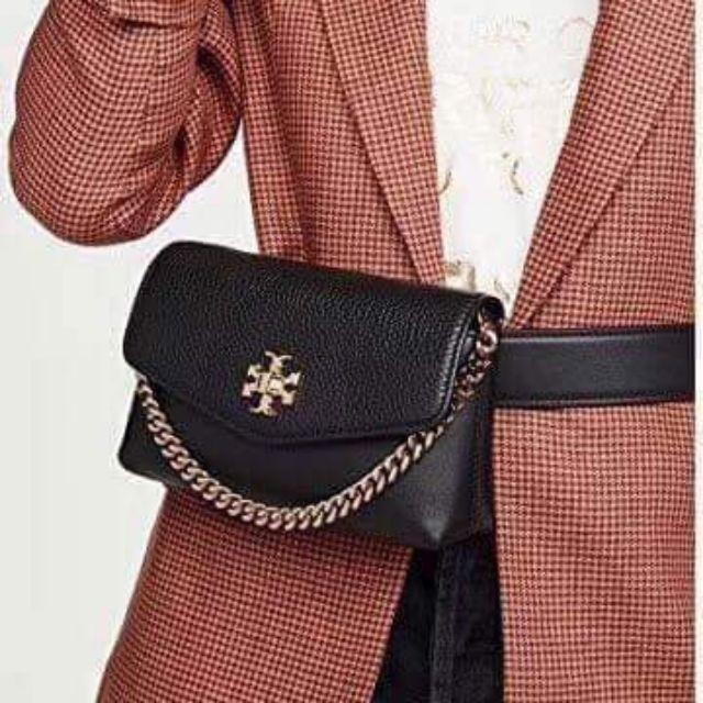 กระเป๋าคาดอก Tory Burch Kira Mixed Belt Bag ของแท้