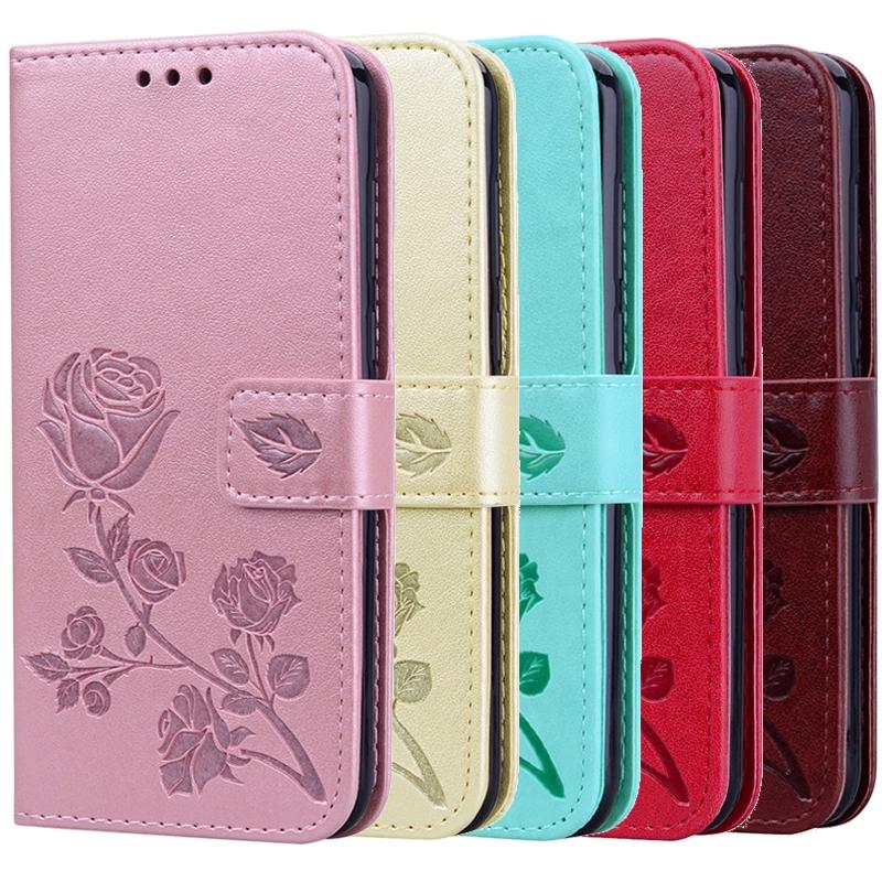 Samsung Galaxy A9 A7 J6+ J4+ Plus J8 J6 J4 J2 Pro 2018 Case Leather Flip Cover 3D Flower Wallet Case