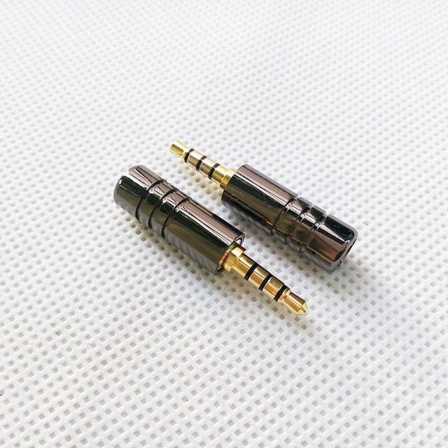 3.5mm Plug Audio Jack 4 Pole Stereo HiFi Earphone Splice Adapter DIY on