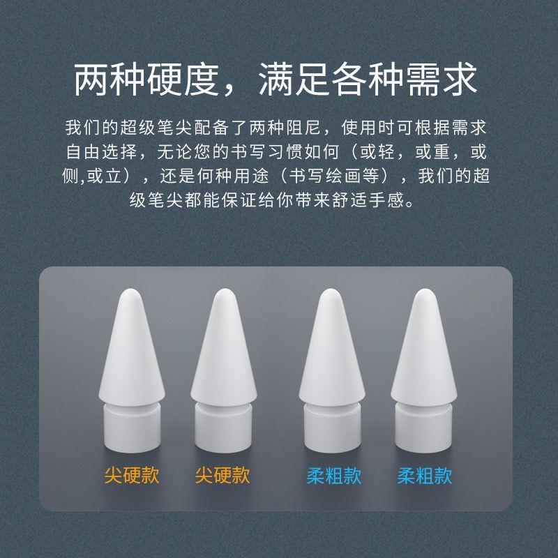 ✲❁หัวปากกาลดแรงสั่นสะท้านคู่เหมาะสำหรับ Applepencil stylus อุปกรณ์เสริมสำหรับเปลี่ยนหัวปากการุ่นที่ 1 และ 2