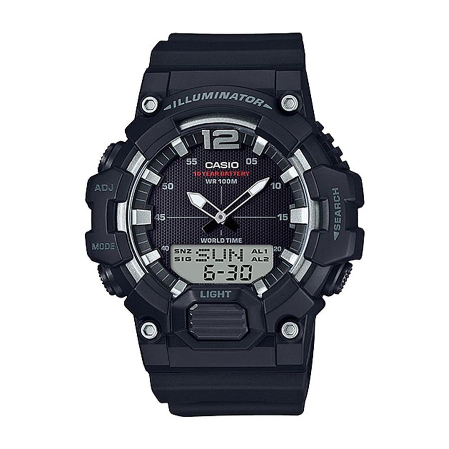 Casio Standard นาฬิกาข้อมือผู้ชาย สายเรซิน รุ่น HDC-700-1A - สีดำ
