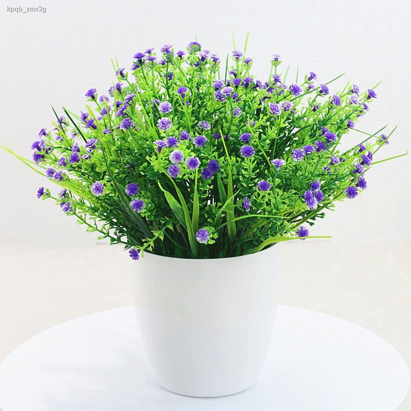 การจำลองพันธุ์ไม้อวบน้ำ☁✸>ชุดดอกไม้เทียมเครื่องประดับ พืชสีเขียว ยิปโซปลอมกระถางห้องนั่งเล่นธรณีประตูหน้าต่างตกแต่งดอกไม