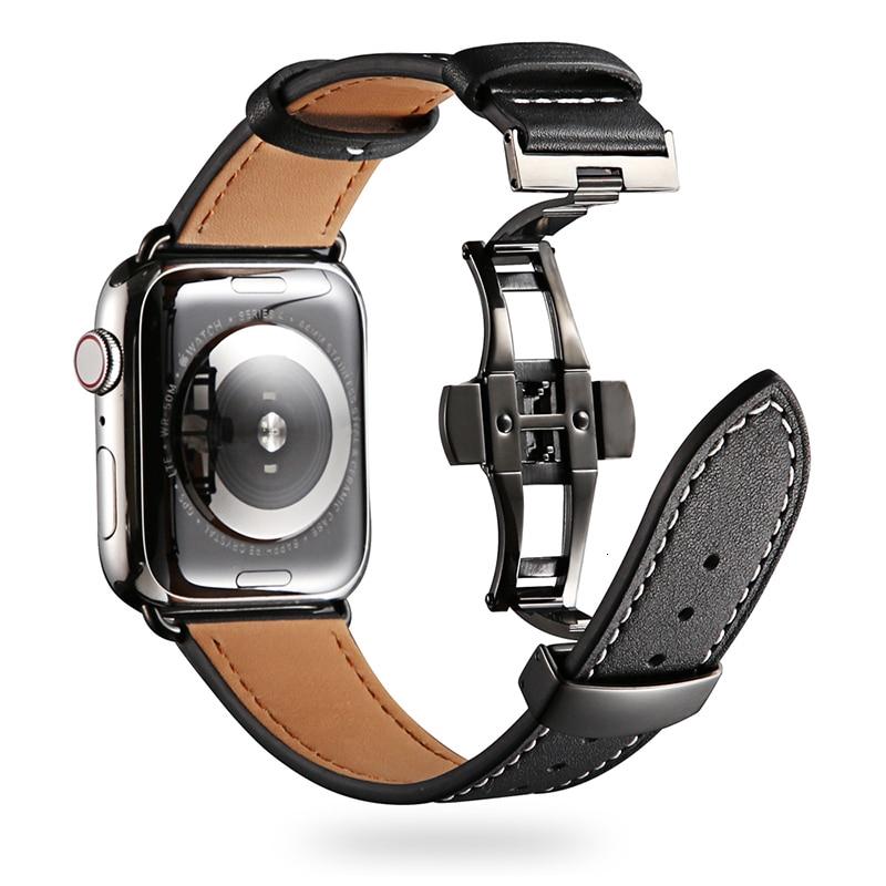 สายนาฬิกาข้อมือหนังวัวสําหรับ Apple Watch Band 44 มม. Iwatch Series 5 4 3 2 1 42 มม. 38 มม. 40 มม.