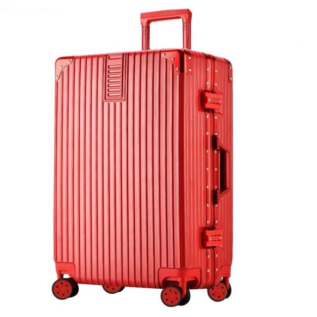 """กระเป๋าเดินทาง ล้อลาก PC+ABS กรอบอลูมิเนียม กันน้ำ แข็งแรงทนทาน 4ล้อหมุน 360องศา ขนาด 20"""" 24""""28""""นิ้ว"""
