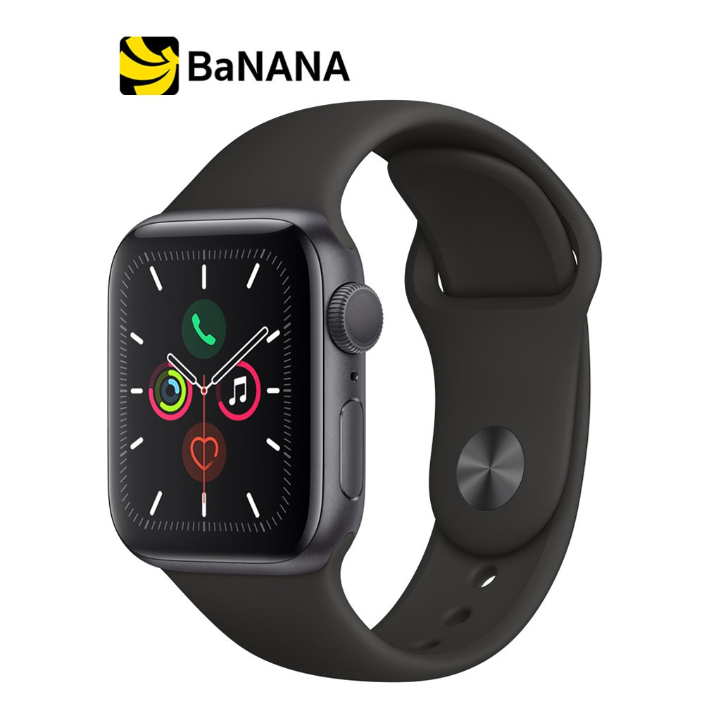 Apple Watch Series 5 GPS Space Grey Aluminium Case with Black Sport Band