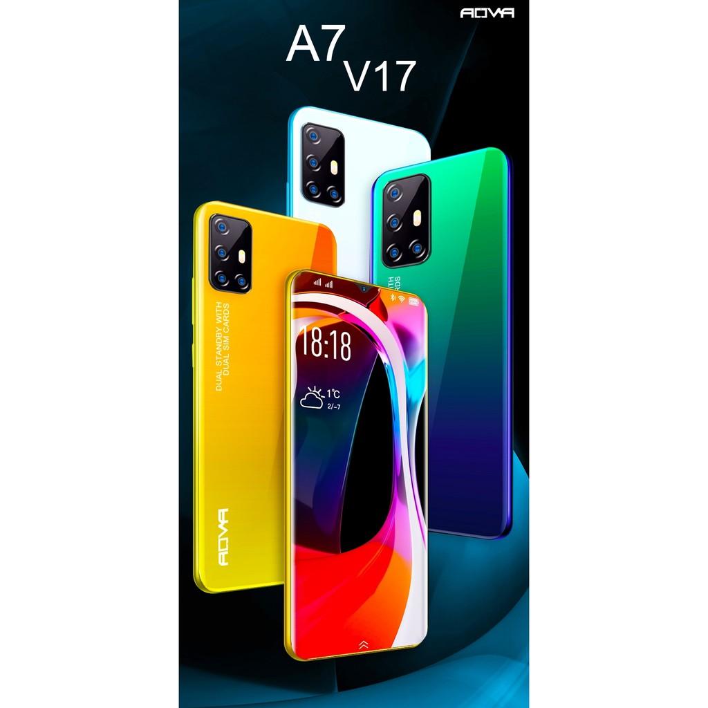 Aova A7 V17 โทรศัพท์มือถือ หน้าจอขนาด 6.8 นิ้ว RAM 4 ROM 64 รับประกันศูนย์ไทย 1 ปี (แถมฟรี!!! ขาตั้ง แหวน เคสใส ฟิล์มกระ