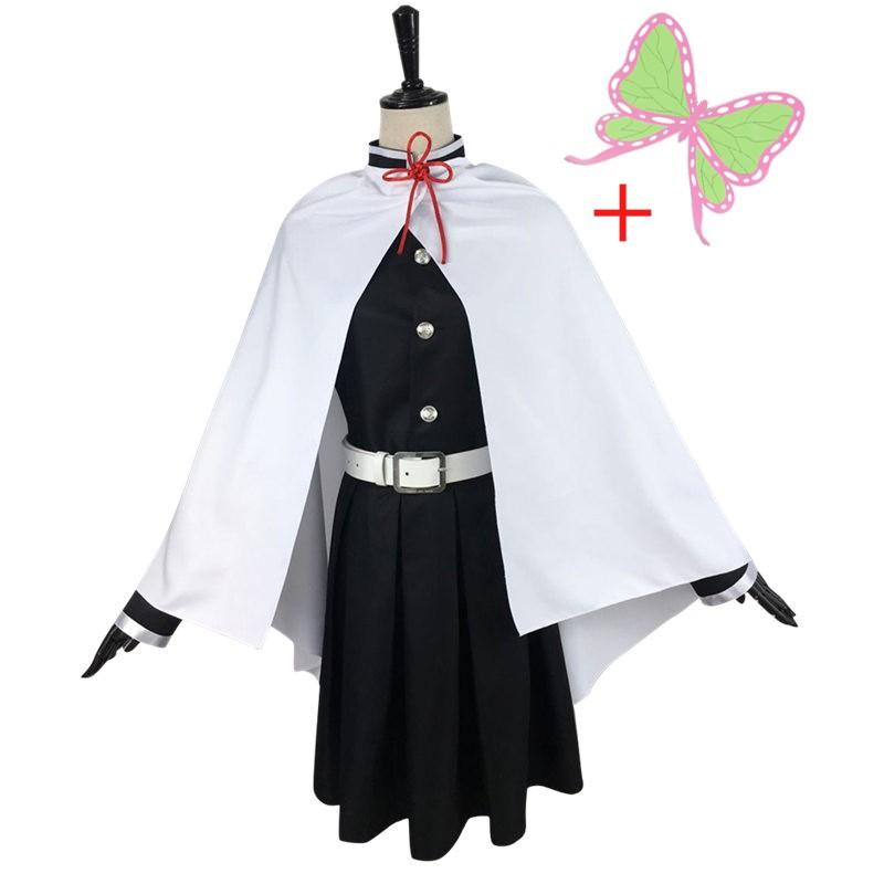COSER KING อนิเมะครับ Demon Slayer Kimetsu No Yaiba Tsuyuri Kanawo Kanao รองเท้าวิกผม Wig Cosplay Costume shinobu kochou