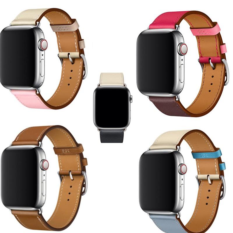 สาย applewatch Apple Watch สายหนัง 44mm 42 มม. 40 มม. 38 มม.series 5 4 3 2 1