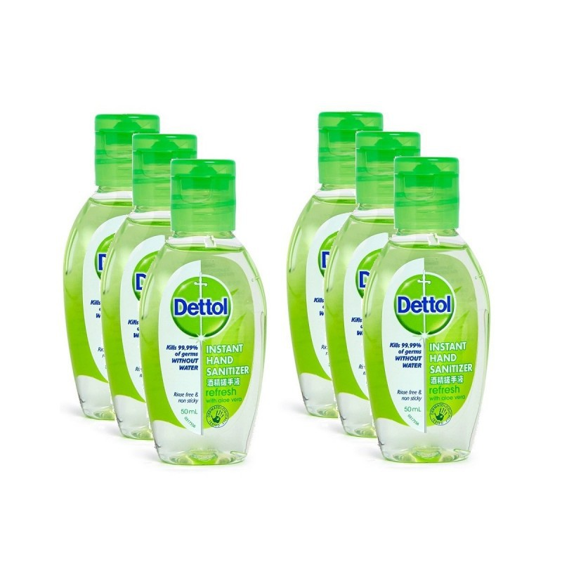 Dettol Hand sanitizer refresh 50ml เดทตอล เจลล้างมือ อนามัย